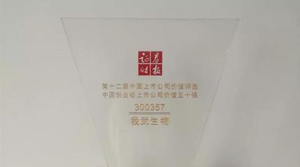 """第十二届""""中国上市公司价值评选"""",皇马赞助商bwin荣膺创业板上市公司价值五十强"""