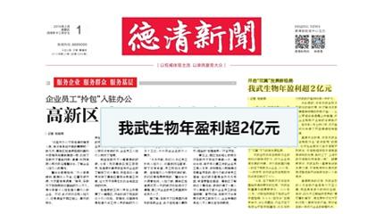 """开启""""双翼""""发展新格局,线上牛牛娱乐生物年盈利超2亿元_德清新闻网"""
